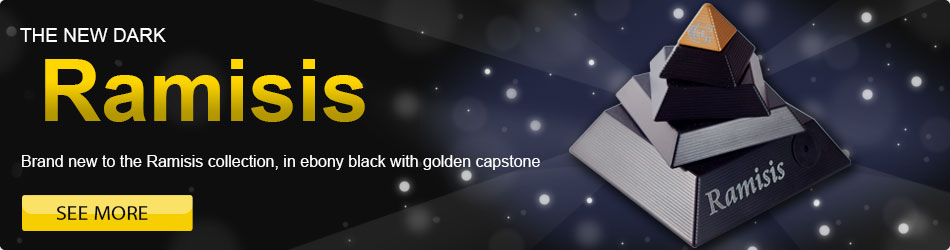 The new dark Ramisis - Brand new to the Ramisis collection, with dark gloss black and golden top
